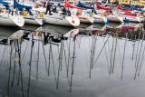Yacht reflections in Kristiansund