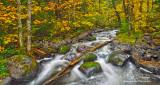 ** 84.7 - Sawtooth Mountains: Tait River, Late Autumn