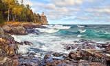 *** 43.7 - Split Rock Lighthouse:  Autumn Surf, October 1st