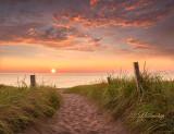 ** 100.7 - Duluth:  Park Point Sunrise Over Sandy Path