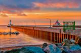* 95.5 - Duluth:  Dawn At Harbor Entrance