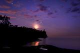 * 44.17 - Split Rock Lighthouse: Perseid Meteor With Full Moon