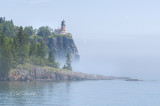 Split Rock Lighthouse Blue Fog