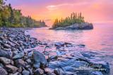 * 119.5 -  Grand Marais: Horseshoe Bay Island At Sunrise