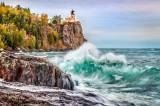 44.45 - Split Rock Lighthouse:  Storm Wave
