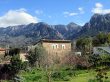 Day 3 Looking back to the mountains above Soller