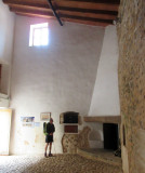 Day 6 Galatzo 'Finca' in the hall with an olive press powered by donkeys
