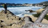 Stormy coast near to Peguera