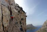 At Sympleglades crag Kalymnos