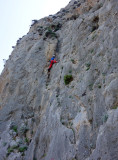 Summertime crag- Martina on 'Yeraki'