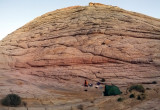 Notch camp at Steve Allens 'wonderful slickrock-floored canyon with pines and string of potholes'
