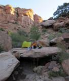 Oct 17 East Slickhorn canyon camp on boulder southern Utah