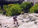 Escalante River exit up onto the Bringham Tea Bench