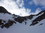 April 18 Ben Damph-heading up a gully onto the east ridge