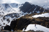 April 18 Beinn Fhada in Kintail - warmer spring weather arrives