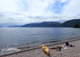 June 18 Loch Ness kayak -Dores beach looking down the Loch