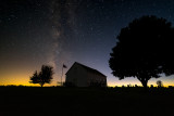 Milky Way over Fairview Church