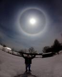 Year Ending Lunar Halo