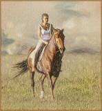 The Rider ColouredSketch.
