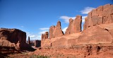 Courthouse Towers and Park Avenue in Arches National Park Moab Utah 675