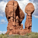 Rock formation at Garden of Eden in Arches National Park Moab Utah 1110