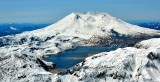 Lava Dome and Spirit Lake at Mount St Helens National Volcanic Monument, Cascade Mountains Washington 181
