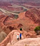 Risking LIfe for Selfie  at Dead Horse Point State Park Moab Utah 418