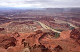 Goose Neck and Colorado River from Dead Horse Point State Park Moab Utah 450