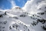 Flying along the Cascade Mountains Washington 236
