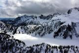Snow Lake and Chair Peak and Denny Peak Cascade Mountains Washington 260