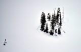 Seeking Higher Place Frozen Thomson Lake in Cascade Mountains Washington 386