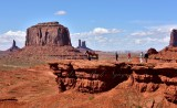 Cowboy and Horse with Tourists at John Ford's Point, Monument Valley Tribal Park, Arizona-Utah 624