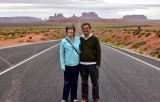 The Nguyens at Forrest Gump Hill on Highway 163 and Monument Valley Utah 078