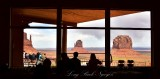Enjoying the Monument Valley view from Dining Room Navajo Tribal Park 423