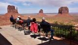 Visitors at The View Hotel at Monument Valley Tribal Park Navajo Nation Arizona 435