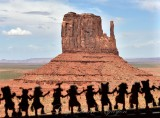 West Mitten from Trading Post at View Hotel Monument Valley Navajo Tribal Park 447