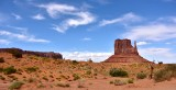 West Mitten with Sentinenal Mesa Monument Valley Navajo Tribal Park 495