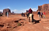 Main Attraction Horse and Rider at John Fords Point Monument Valley Navajo Tribal Park 609