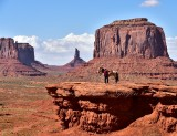 Horse and Rider at John Fords Point Monument Valley Tribal Park 621