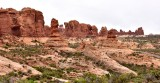 Elephant Butte Cove Arch from Garden of Eden Arches National Park Utah 323