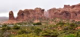Double Arches and Parade of Elephants in Arches National Park Utah 372
