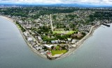 Alki Lighthouse with Alki Beach and Beach Drive in West Seattle Washington 163
