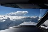 Thunderstorm above 30000 feet, flying at 20000 feet over Idaho. 2
