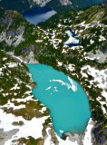 Jade Lake No Name Lake Marmot Lake by Mount Daniel Cascade Mountains Washington 488