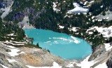 Jade Lake No Name Lake  by Mount Daniel Cascade Mountains Washington 457