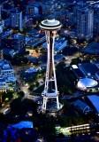 Space Needle at Blue Hour Seattle Washington 236