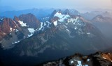 Overcoat Peak and Chimney Rock and Glacier, Summit Chief, Bear Breast Mt, Lemah Mountain, Washington 152