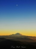 Mount Rainier and the Moon at sunset 291