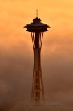 Space Needle above the Fog Seattle Washington 392a