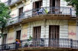 Balconies in Barcelona Spain 006